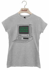 BATCH1 ABOUT READY TO CARPE DIEM RETRO COMPUTER NERD GEEK WOMENS T-SHIRT