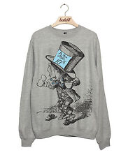 BATCH1 ALICE IN WONDERLAND THROUGH LOOKING GLASS MAD HATTER WOMENS SWEATSHIRT