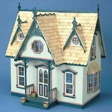 Wooden Doll House Kit Miniature Wood Cottage Traditional Dollhouse Victorian New