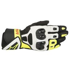 Alpinestars SP Air Black White & Fluo Leather Motorcycle Gloves