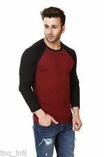 Mens T-shirts/Long sleeves T-shirt/Causal Black Red T-shirt/FREE & PLUS SIZE