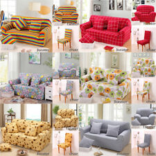 Universal Chair/Sofa 1/3 Seater Settee Easy Fit Stretch Elastic Slip Cover Couch