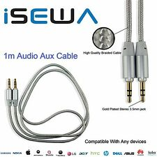 1M - 3.5mm Jack Plug To Plug Male Cable Audio Lead For Headphone/Aux/MP3/iPod