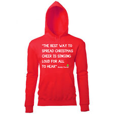 UNOFFICIAL BUDDY THE ELF SPREAD XMAS CHEER WOMENS FUN NOVELTY CHRISTMAS HOODIE