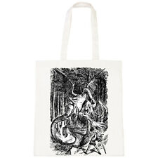 BATCH1 ALICE IN WONDERLAND THROUGH LOOKING GLASS JABBERWOCKY TOTE BAG SHOPPER