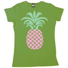 GIANT PINEAPPLE WOMENS BRITISH SUMMER LARGE FASHION PRINT T-SHIRT