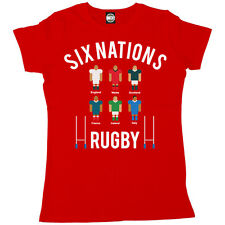 SIX NATIONS RUGBY TOURNAMENT WOMENS SPORTS COMPETITION T-SHIRT