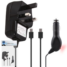 Car And Mains Charger 1000 mAh UK 3 Pin For Nokia 6500 Classic