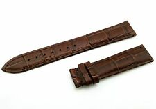 Genuine Leather Strap/Band for Omega Watch D-Brown 18mm 19mm 20mm Buckle/Clasp