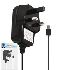 3 Pin 1000 mAh UK MicroUSB Wall Mains Charger for BlackBerry 8520 Curve, 9300 3G