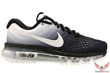 New Nike Mens Air Max 2017 Running Shoes Black/White All Sizes