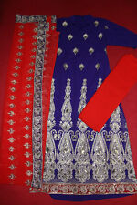 3PCS ASIAN EMBRIORDERED SHALWAR KAMEEZ INDIAN PAKISTANI DRESS UK 8 RRP £75 ref07