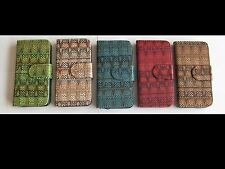 """For iPhone 4"""" 5s, 5 Case Weave Pattern Leather Wallet Flip Stand ,for iPhone SE"""