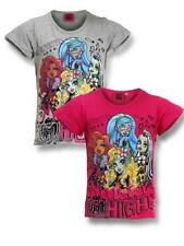 Niñas Disney Frozen Monster High Top manga corta camiseta Edad 6,7,8,9,10,12 Yrs