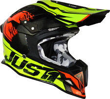 Casco JUST1 J12 DOMINATOR Neon Lime/Red