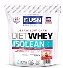USN Diet Whey Isolean Low Carb Protein Isolate Lean Muscle 454g 1kg shake