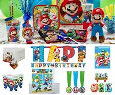 Super Mario Birthday Party Decoration Plates Napkins Cups Invites Table cover