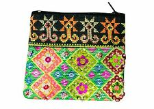 Unique Handmade Hill Tribe Mini COIN Bags Zip small Purse Tribal Gift Girl