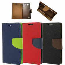 Wallet style flip cover for Sony Xperia C4, Leather flip cover for C4