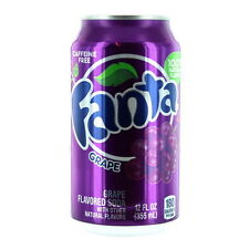New American Fanta Grape Flavored Soft Fizzy Drink 12 Pack 355 ml Cans