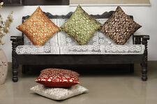 Dekor World Damask Printed Multi Cushion Cover (Pack of 5)