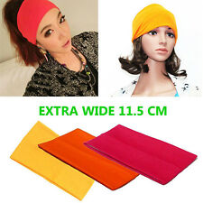 11.5cm Wide Stretchy Kylie Neon Band Hairband 80's Style Sports Dance Headband