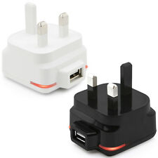 UK 3 Pin Mains Charger Plug Adapter with LED Indicator for Vodafone Indie