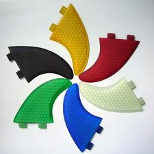SURFBOARD FINS Honeycomb Hexcore FCS Fit fins, G5 Thruster Set Of 3. 7 Colours