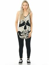 Mono Largo Mujer Iron Fist Loose Tooth Romper Negro