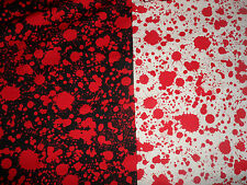 Classic Horror Blood Splatter 100% Cotton Fabric Material sold by Half Metre
