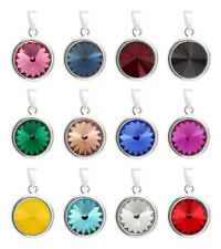 Sterling Silver Rivoli Pendants made with Rivoli 1122 12mm Swarovski® Crystals