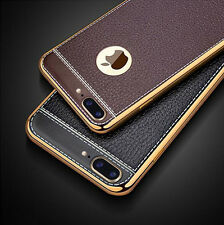 For iPhone 7 7 Plus Luxury Shockproof PU Leather Soft TPU Ultra Slim Case Cover