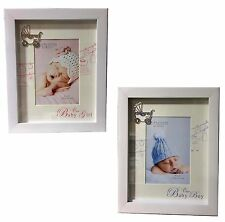 "Impressions by Juliana -Our Baby' Boy/ Girl Photo Frame  4"" x 6"" with Pram Icon"