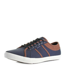Mens Jack and Jones Ross Canvas Navy Blazer Casual Plimsole Trainers Size
