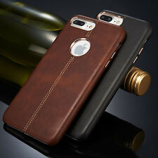 Slim Ultra-thin Genuine Leather Back Skin Case Cover For Apple iPhone