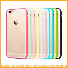 Hard Matte Clear Back Case Soft Silicone TPU Bumper Cover for Apple iP