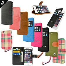 For Apple iPhone 6 / iPhone 6S Plus Leather Flip Card Wallet Slim Case