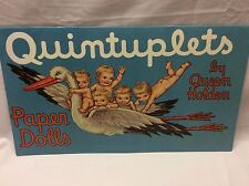 Vintage QUINTUPLETS PAPER DOLLS Book by Queen Holden