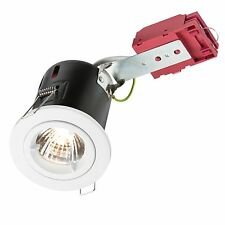 Fire Rated Downlight White GU10 + 5W LED Lamp, Warm White, Cool White