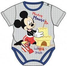OFFICIAL LICENSED DISNEY BABY MICKEY MOUSE SHORT SLEEVED BABY VEST GROW
