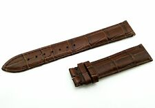 Genuine Leather Strap/Band for Omega Watch Brown 18mm 19mm 20mm Buckle/Clasp