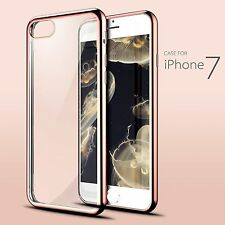 For iPhone 7 Case Crystal Clear Soft TPU Gel Shockproof Cover for iPho
