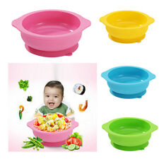Kids Baby Eco Food Grade Silicone Suction Round Bowl Slip-Resistant Tableware