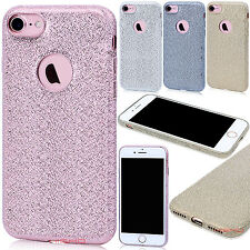 Ultra Slim Bling Glitter Soft Silicone TPU Back Case Cover For iPhone