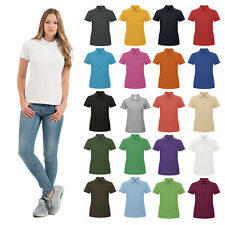 B&C Collection Id.001 Women's Casual Short Sleeve Polo tshirt(PWI11)-100% Cotton