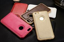 For iPhone 7 Plus 6S SE Luxury Ultra thin PU Leather Back Skin Case Co