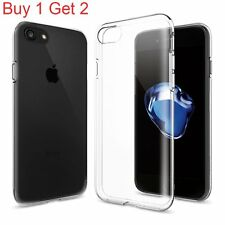 New Soft Rubber Shockproof Clear Case Slim Cover Skin For Apple iPhone