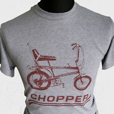 Chopper Bike New T Shirt Raleigh Grifter Cool Retro 70's 80's Vintage Cycle grey