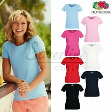 Fruit of the Loom FOTL - Women's Lady-fit Crew Neck Cotton Tee Tshirt Top