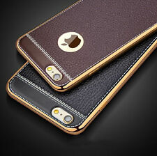 For iPhone 7 6s Plus Luxury Slim Ultra-thin PU Leather Soft Phone Case
